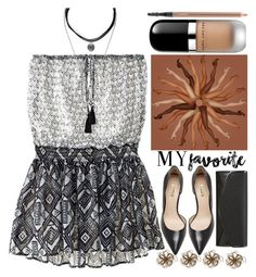 """My Favorite Feature Is..."" by grozdana-v ❤ liked on Polyvore featuring Victoria's Secret, Forever 21, Christian Louboutin, MAC Cosmetics, Marc Jacobs, J. Furmani, myfavorite and tonedlegs"