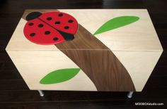 Toy Box Storage Chest Trunk, Organizers for Baby Toys, Bookshelf for Baby Nursery, and of nod style Ladybug on Etsy, $633.28 AUD