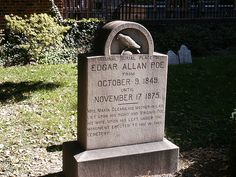 Poe's resting place. Baltimore