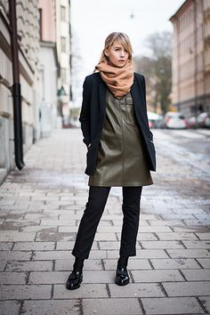 Pleather & loafers | chaloth.se