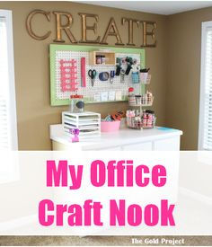 my office craft nook