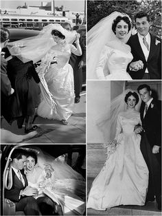 Iconic Wedding Dresses : The Serial Marriages of Elizabeth Taylor (Part One)
