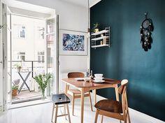 D jak DESIGN-dom, wnętrze, lifestyle: kwietnia 2016 Interior Design Blogs, Scandinavian Interior Design, House Decoration Items, Living Room Scandinavian, Dark Blue Walls, Home Hacks, Dining Room Design, Designer, Sweet Home