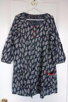 Gudrun Sjoden Jacket Tunic Blouse Size M Black Patterned | eBay