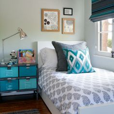 Metal Locker Nightstand Design Ideas, Pictures, Remodel, and Decor