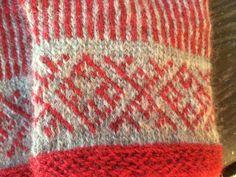 tvåändsstickning - Sök på Google Fair Isle Knitting Patterns, Knit Patterns, Viking Pattern, Knitted Gloves, Free Knitting, Twine, Mittens, Knit Crochet, Weaving
