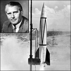 Von Braun major achievement was the design of the first ever ballistic missile, the V-2 combat rocket which was launched by Germany in 1944 during WWII. After the end of WWII, he and key members of his rocket staff were taken to the USA as part of Operation Paperclip, the American operation to gather key German scientists for use in the USA before they could be captured by the Soviets.