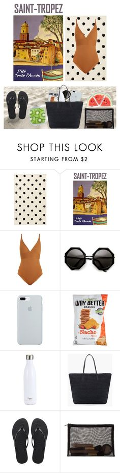 """Sun ☀️"" by laurarico ❤ liked on Polyvore featuring PBteen, Saint Tropez, Eres, ETUÍ, S'well, Chico's, Havaianas and Forever 21"