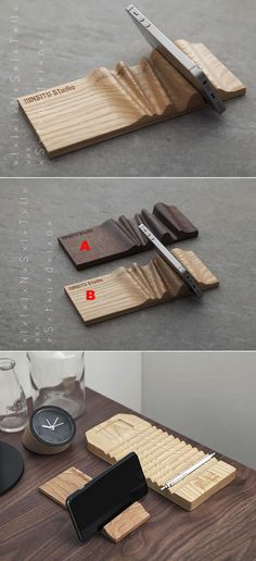 Portable Wooden Cell Phone Holder