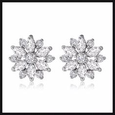 76e1ccc71058 2015 New Platinum Plated AAA Cubic Zirconia Stud Earrings Luxurious Style  Trendy Christmas Women Fine Jewelry Accessories