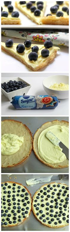Doesn't get much easier than dessert pizza with whipped lemon frosting, fresh fruit and sugar cookie crust!