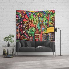Azimas City Wall Tapestry #handmade #home #walltapestry Wall Tapestries, Tapestry, City, Handmade, Home Decor, Wall Hangings, Hanging Tapestry, Tapestries, Hand Made