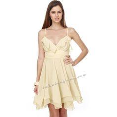 Beige Empire Waist Short Prom Dress TPSD035 [TPSD035] - $118.00 :... via Polyvore