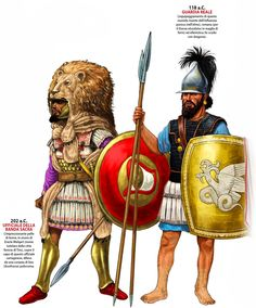 Carthaginian Sacred Band Officer on the Left Ancient Rome, Ancient History, Punic Wars, Greek Warrior, Roman History, Art Station, Historical Pictures, Military Art, Vikings