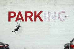 20 Stellar Street Art Installations via Brit + Co.- No street art roundup would be complete without Banksy, but have you seen these animated GIFS from Made by ABVH? I love how they bring a little motion to Banksy's pieces. Banksy Graffiti, Street Art Banksy, Bansky, Graffiti Artwork, Banksy Prints, Banksy Artist, Graffiti Quotes, Graffiti Tagging, Graffiti Artists