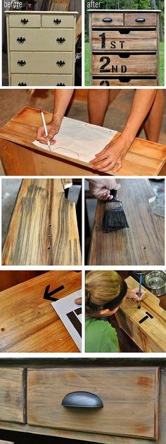 Check out the tutorial: #DIY #Anthropologie Ordinal Dresser Knockoff #crafts #homedecor