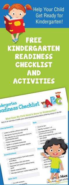 Free kindergarten readiness checklist and activities. Simple activities that teach kindergarten skills. Great worksheets and activity books for preschoolers and transitional kindergarten (TK).  Plus your entire order is shipped for only $1.99.