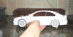 Tashas Tasty Treats Blog: Making a BMW M3 car cake you can see under