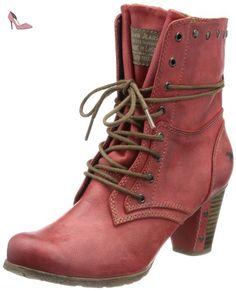 Mustang 1102602, Boots femme - Rouge (5 Rot), 40 EU - Chaussures mustang (*Partner-Link)