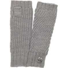 Vince Camuto Driftwood Geometric Rib Knit Fingerless Armwarmer Gloves... (€18) ❤ liked on Polyvore featuring accessories, gloves, grey, long grey gloves, lined gloves, vince camuto gloves, grey gloves and lined fingerless gloves