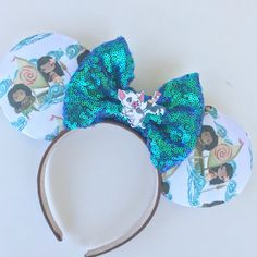 Moana Inspired Mouse Ears (£18) ❤ liked on Polyvore featuring accessories, hair accessories, silver, headband hair accessories, silver hair accessories, head wrap headbands, adjustable headbands and silver headband