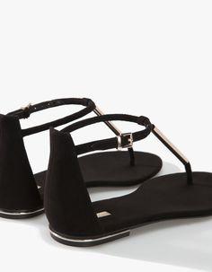 Sandálias aplique metálico - TODOS - MULHER  f868dcd4bdc5a