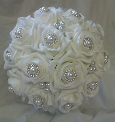 Foam Roses & Pearls Bridal Bouquet £49 ♡