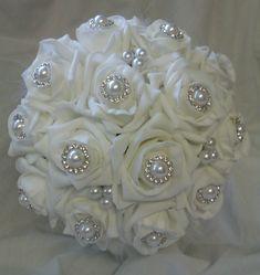 Foam Roses & Pearls Bridal Bouquet £49 ♡
