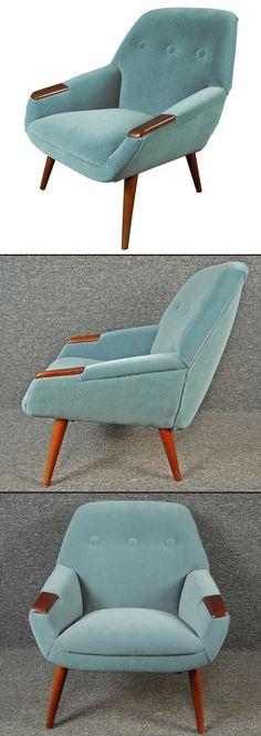 Interior design, decoration, loft, furniture,  1950s Swedish Teak Armchair