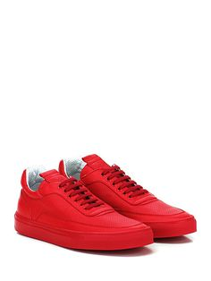 Mariano Di Vaio - Sneakers - Uomo - Sneaker in pelle e pelle micro forata con suola in gomma. Tacco 25. - ROSSO - € 210.00