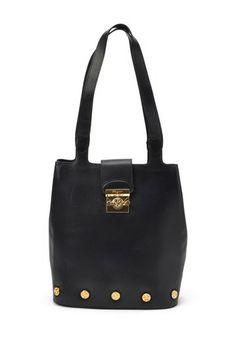 Vintage Ferragamo Leather Shoulder Bag