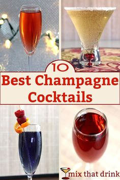 Champagne cocktails are fizzy and easy to love, and they turn leftover or cheap champagne into deliciousness. They're great for entertaining, or anytime you're wanting champagne with a little more kick. Cheap Champagne, Champagne Recipe, Best Champagne, Champagne Drinks, Sparkling Drinks, Easy Cocktails, Classic Cocktails, Fun Drinks, Beverages