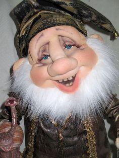 Купить гномик - комбинированный, гном, гномик, кукла ручной работы, кукла из…