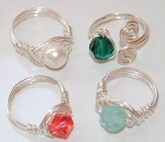 Beautiful Wire-wrapped Rings! by gay