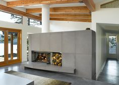 outdoor double sided fireplace - Google Search