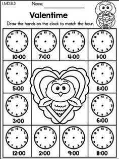Pumpkin Missing Alphabet Letters >> Part of the Autumn Kindergarten Language Arts Worksheets Packet. Language Arts Worksheets, Kindergarten Language Arts, Kindergarten Math Activities, Kindergarten Math Worksheets, Time To The Hour, Time Time, Teaching Time, Valentines Day Activities, 1st Grade Math
