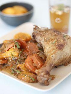 Recette Tajine aux cuisses de canard