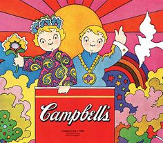 touché, Andy Warhol: Campbell's soup kids go psychedelic in my new Print feature: Elephant Love, July 4th Bang, and Baby Boom Pop Culture Graphics...