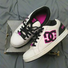 "DC shoes Women's or girls DC sneakers ""Clemente"" size 7 and a half. In excellent condition, kept boxed and worn very infrequently. DC Shoes Sneakers"