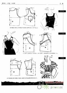 Free Vintage Blouses Sewing Draft Pattern