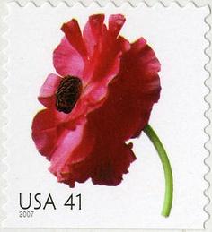 41c Poppy USA postage stamp
