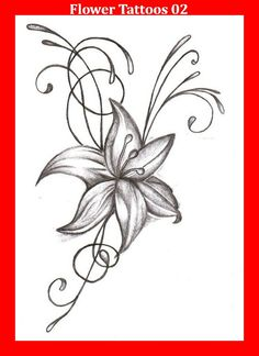 Lily Flowers Drawing at Getdrawings in lily flower drawing Lily Tattoo Drawing at PaintingValley Flower Tattoo Drawings, Flower Tattoo Designs, Flower Designs, Tattoo Flowers, Drawing Flowers, Tattoo Art, Sketch Tattoo, Tattoo Floral, Flower Design Drawing