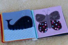 faire un livre pour bebe | ai réalisé un petit livre en tissu comme cadeau de naissance. Je ...