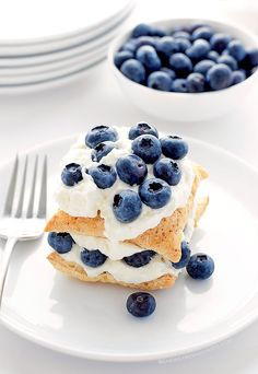Easy Blueberry Lemon Napoleon Dessert Recipe