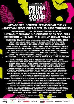 Primavera Sound 2017 Barcelona Line-up www.primaverasound.es