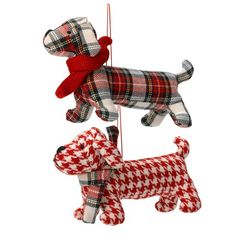 Linea Frosty tartan sausage dogs from House of Fraser | Country Christmas decorations | PHOTO GALLERY | Housetohome.co.uk