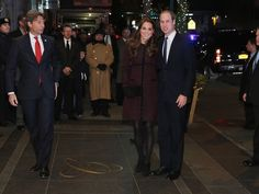 Prince William, Duke of Cambridge and Catherine, Duchess of Cambridge (L) arrive at The Carlyle Hotel, where they will be staying during their official two-day visit to the United States, on December 7, 2014 in New York City.