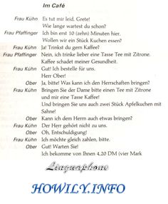 German For Beginners: In the café