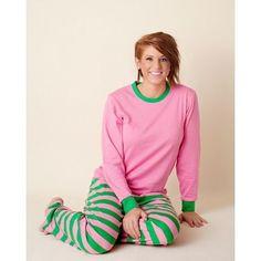 Sorority Pajamas - Pink and Green/ Preorder- delivery starting in May