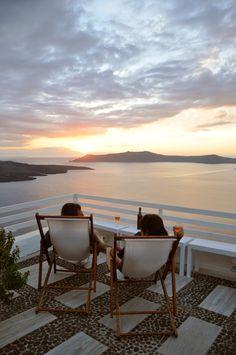 Portofira Hotel, Santorini, Greece - beautiful view - must travel here someday